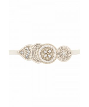 Gatsby Style Hand Beaded Bracelet in Cream