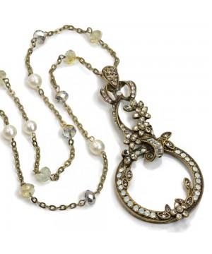 Victorian Bronze Magnifier Necklace