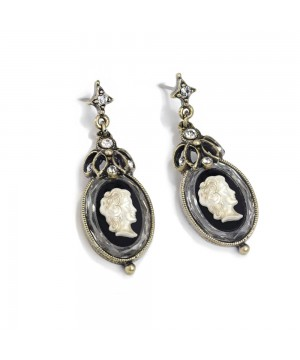 Vintage Style Cameo Earrings