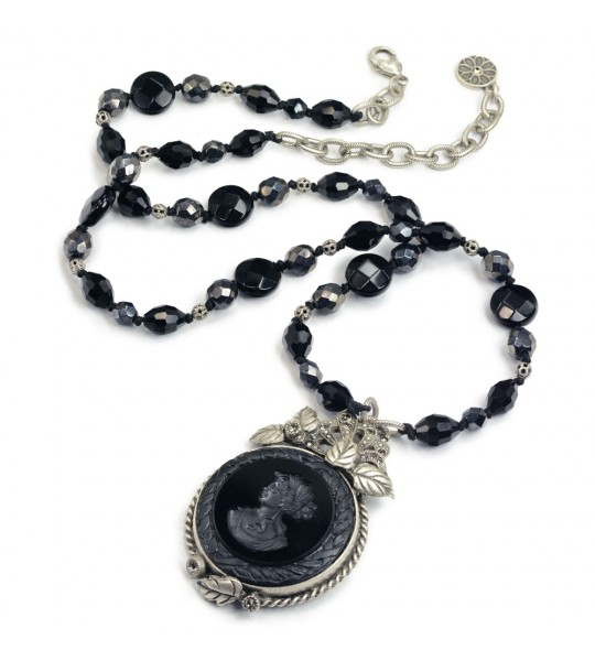 Neo-Classical Necklace in Jet