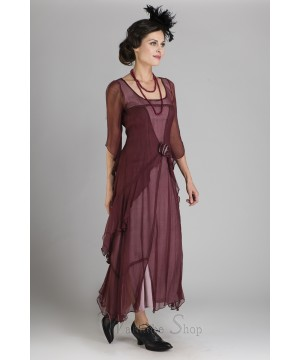 Great Gatsby Party Dress in Garnet by Nataya