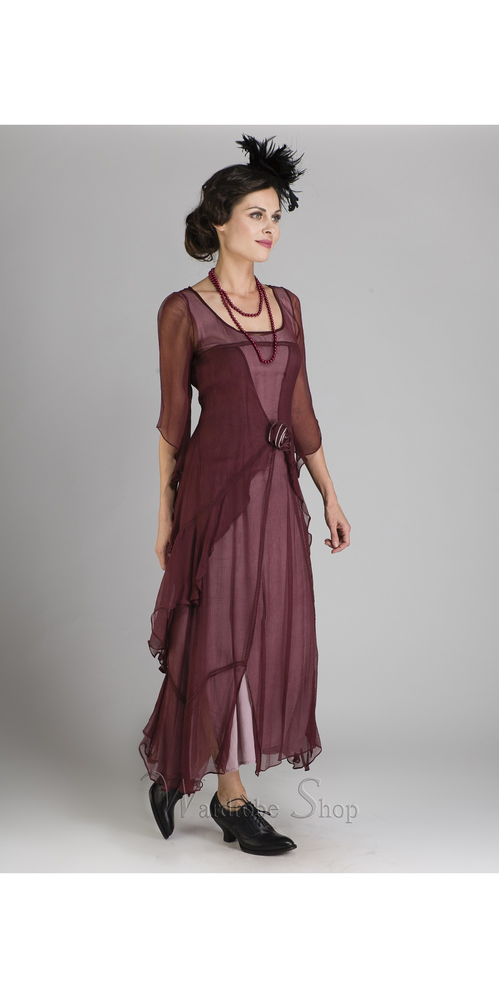 Extreem Great Gatsby Party Dress in Garnet by Nataya @VL13