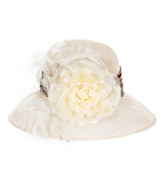 1920s Style Summer Sinamay Hat