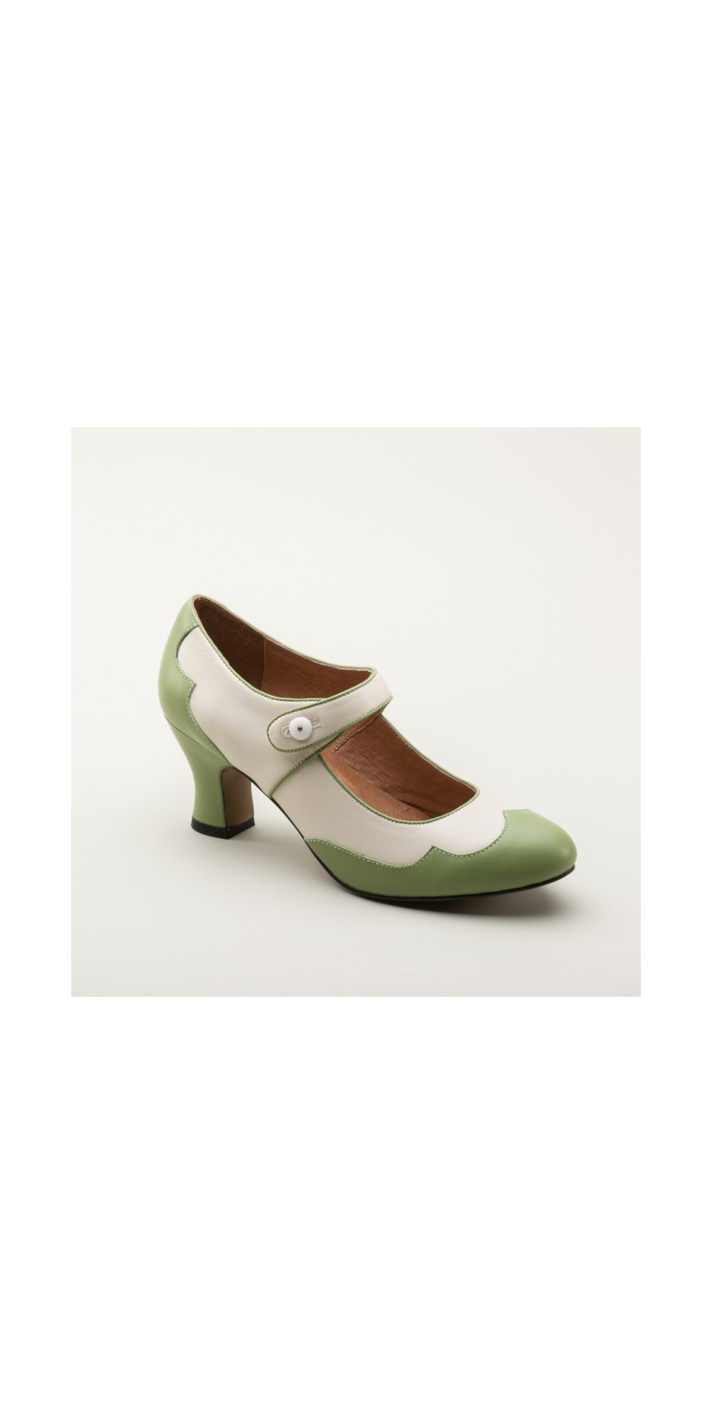 558da3cc2f93 Lillian Retro Shoes in Sage Ivory by Royal Vintage Shoes