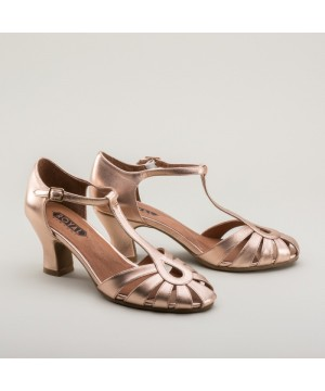 Eve Art Deco Sandals in Rose Gold