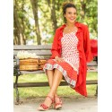 Anna Romantic Long Cover-Up in Red | April Cornell - SOLD OUT