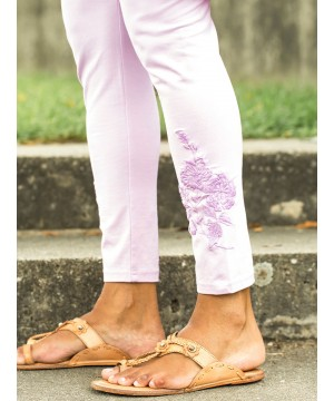 Vintage Style Tapestry Legging in Lilac by April Cornell