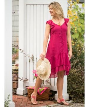 Josephine Romantic Dress in Fuchsia by April Cornell