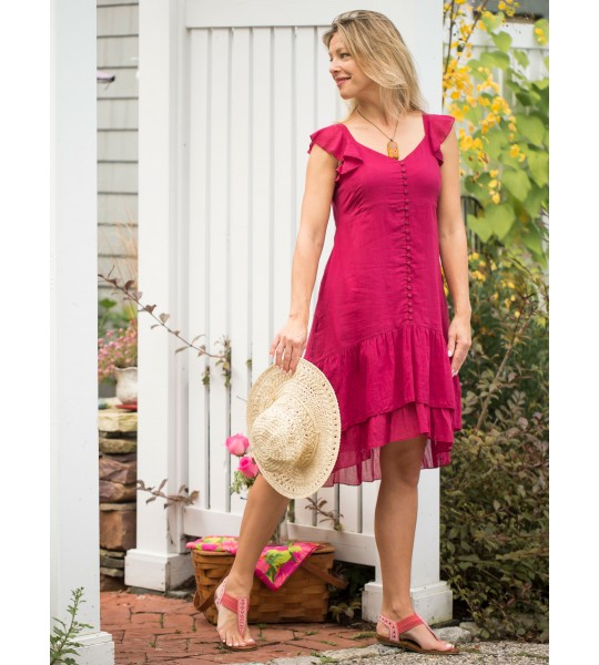 Josephine Romantic Dress in Fuchsia by April Cornell