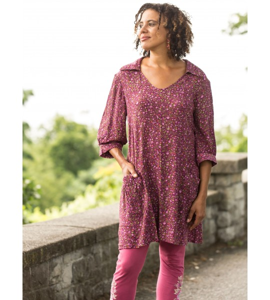 Romantic Courtyard Tunic in Purple by April Cornell