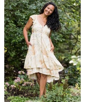 Victorian Inspired Garden Dress in Ecru by April Cornell
