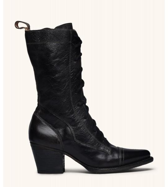 Baisley Modern Vintage Boots in Black Rustic