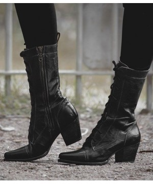 Baisley Modern Vintage Boots in Black Rustic by Oak Tree Farms