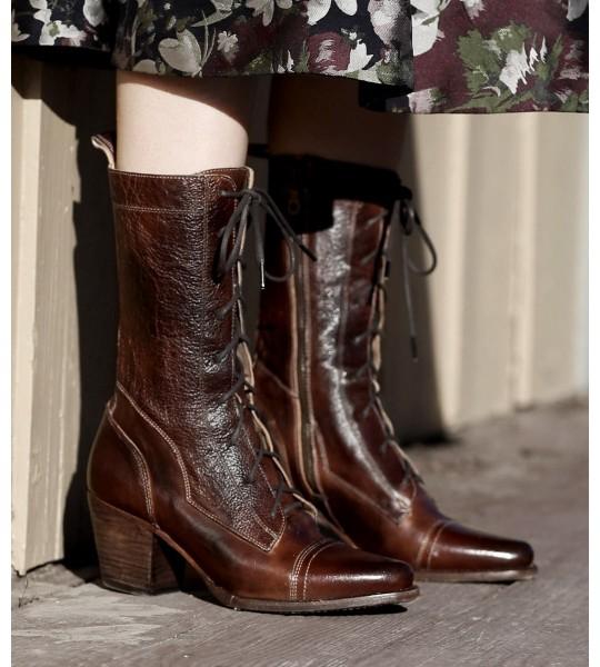 Baisley Modern Vintage Boots in Teak by Oak Tree Farms