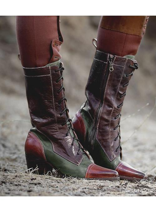 Baisley Modern Vintage Boots in Cognac Teak by Oak Tree Farms