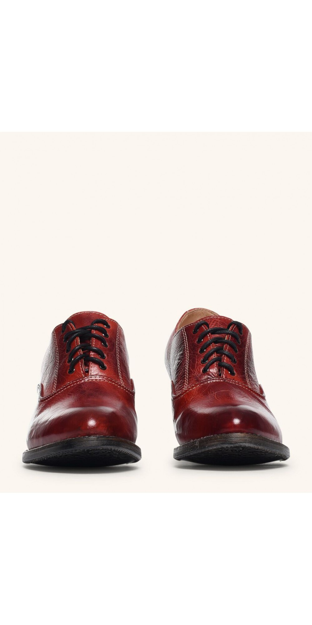 Victorian Style Leather Lace Up Shoes In Red Rustic