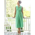 Vintage Inspired Romantic Dot Porch Dress in Green | April Cornell