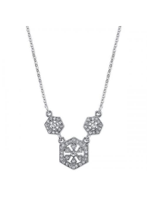 Downton Abbey Hexagon Necklace by 1928 Jewelry