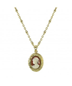 Downton Abbey Ivory Cameo Necklace by 1928 Jewelry