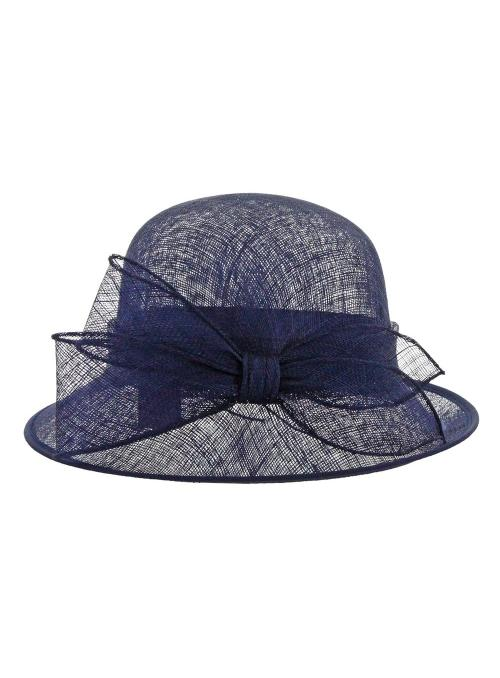 1920s Style Sinamay Hat in Navy