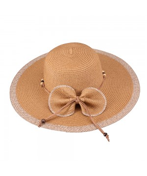 Vintage Inspired Bow Paper Braid Hat in Brown
