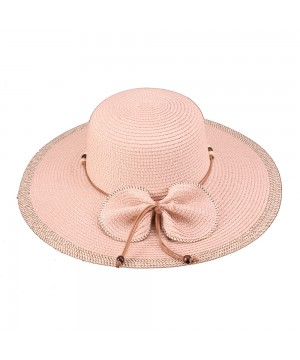Vintage Inspired Bow Paper Braid Hat in Pink