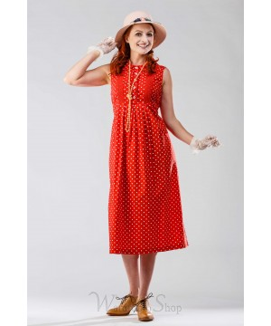 Dottie Vintage Style Dress in Red by April Cornell