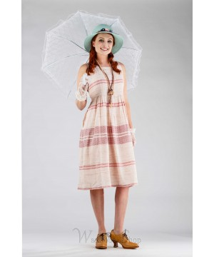 Romantic Fraise Dress in Pink/Ecru by April Cornell