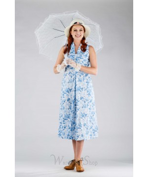 Romantic Vintage Inspired Porch Dress in Blue by April Cornell