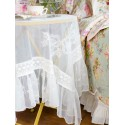 Tea Lace Tablecloth in Ecru | April Cornell