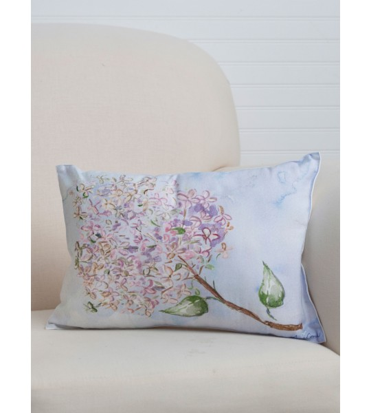 Blueberry Cotton Cushion in Blue by April Cornell
