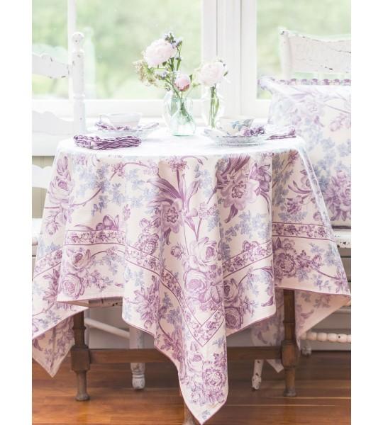 Lemon Mousse Cotton Tablecloth in Ecru by April Cornell
