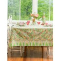 Sweet Potato Pie Cotton Tablecloth in Green