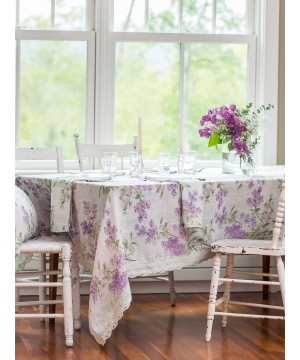 Pear Juice Linen Tablecloth in Lavender by April Cornell