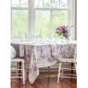 Pear Juice Linen Tablecloth in Lavender