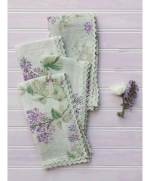 Plum Tart Linen Napkinn in Lavender