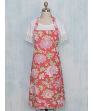 Primrose Apron in Coral by April Cornell