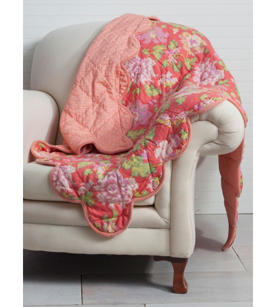 Primrose Throw in Coral by April Cornell
