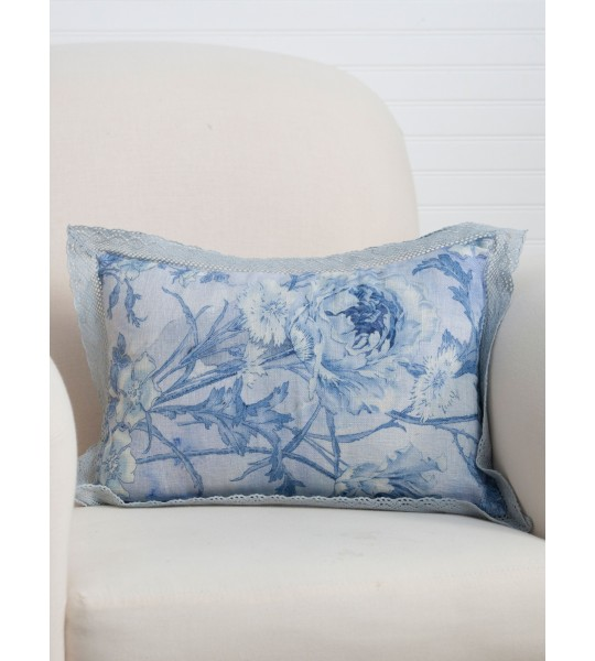Ladylike Cushion in Soft Blue by April Cornell
