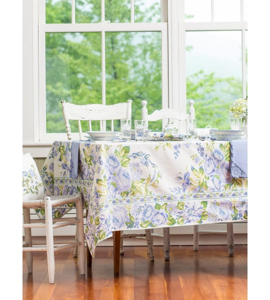 Strawberry Shortcake Tablecloth in Ecru by April Cornell