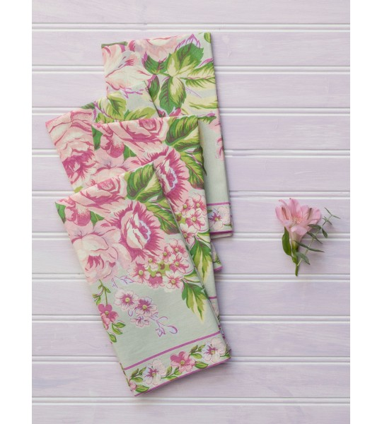 Strawberry Shortcake Napkin in Sage by April Cornell