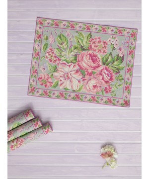 Strawberry Shortcake Placemat in Sage by April Cornell