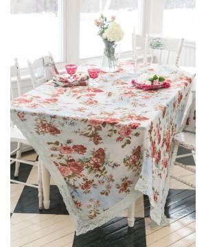 Biscotti Tablecloth in Blue | April Cornell