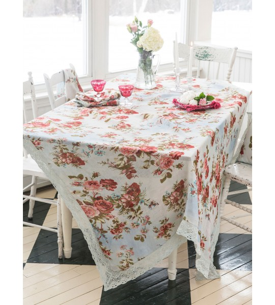 Biscotti Tablecloth in Blue | April Cornell