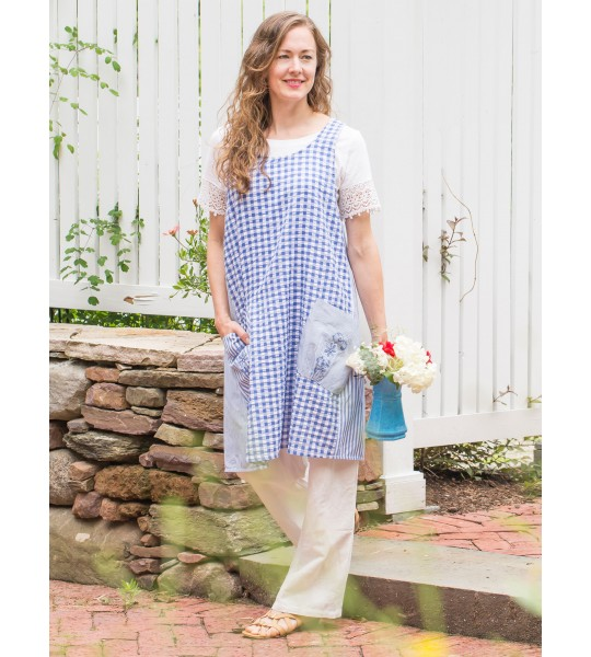 Blueberry Pie Apron in Blue | April Cornell