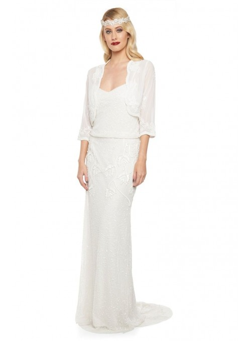 Great Gatsby Party Bolero in White