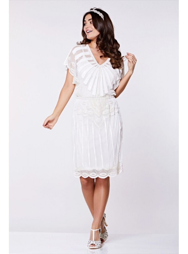Roaring Twenties Inspired Dress In White