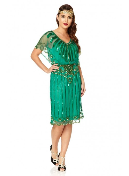 Roaring Twenties Inspired Dress in Green