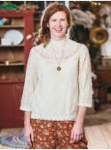 Maribelle Blouse in Ecru | April Cornell