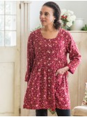 Savannah Tunic in Cranberry | April Cornell - SOLD OUT